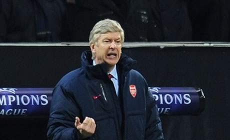 Arsene Wenger during Arsenal's 4-0 defeat by Milan