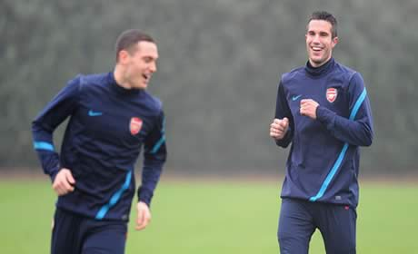 Thomas Vermaelen and Robin van Persie