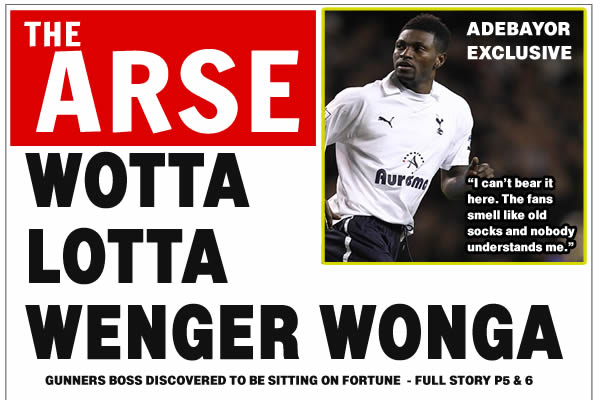 Arsenal tabloid headlines