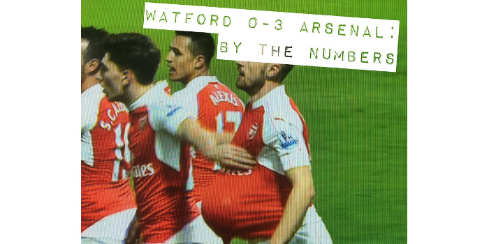 Watford 0-3 Arsenal: By the Numbers