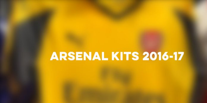 arsenal kits 2016-17