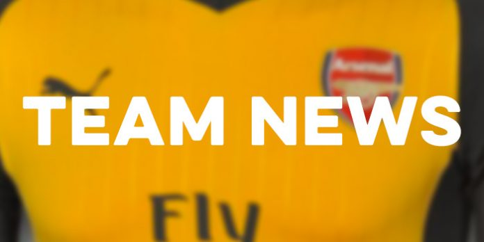 Arsenal team news 2016