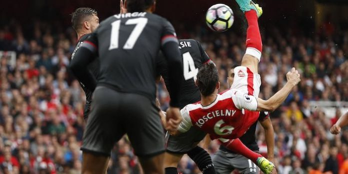 Arsenal 2-1 Southampton 2016