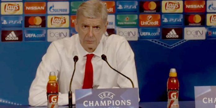 Arsene Wenger PSG 1-1 Arsenal