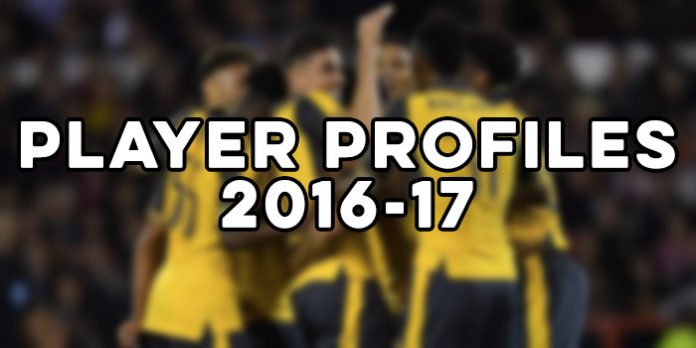 Arsenal player profiles 2016-17