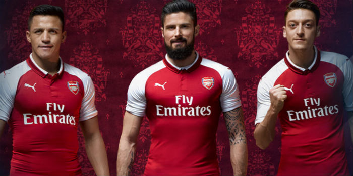 low priced d804c e7a71 Arsenal launch new Puma home kit & training gear - pictures ...