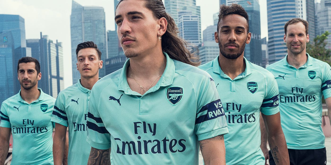 PICTURES  Arsenal launch new Puma third kit in Singapore  7ec5994d7