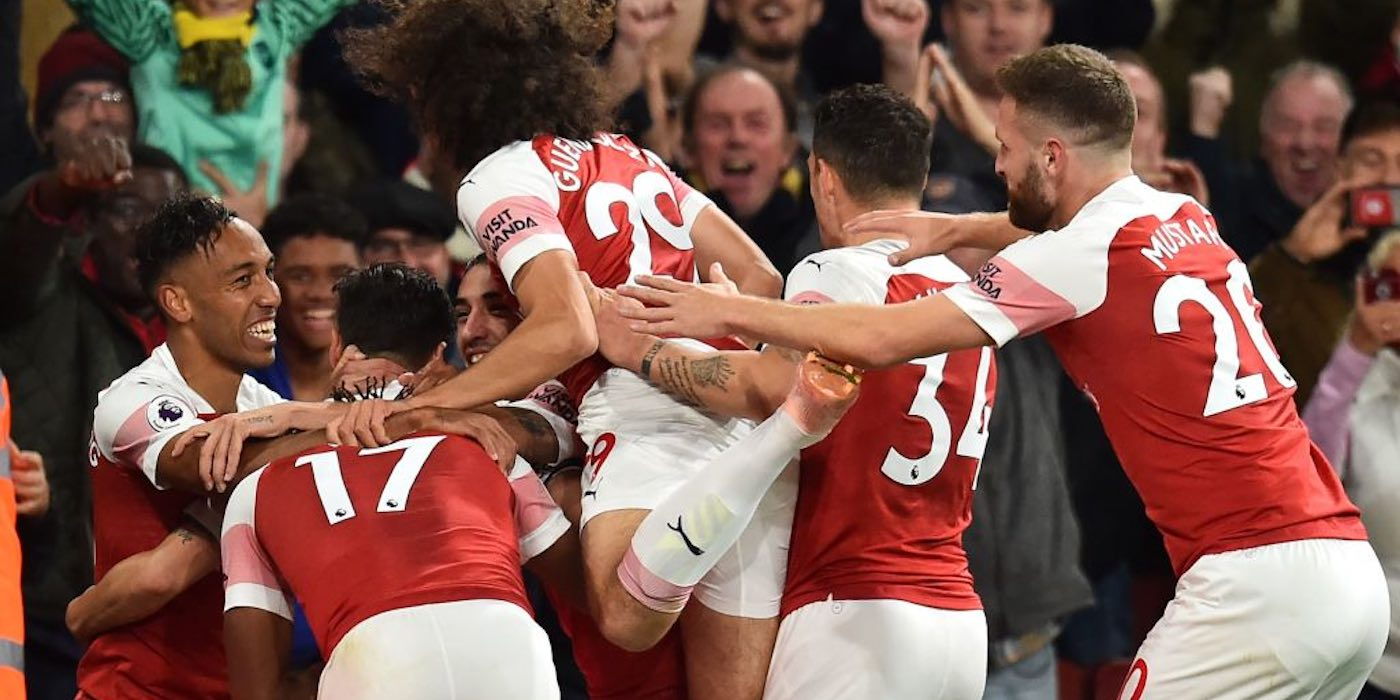 arsenal 3-1 leicester 2018