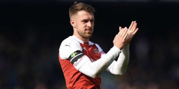 49a1a2c67c0 The BBC s David Ornstein says Aaron Ramsey s hamstring injury has ended his  season prematurely.
