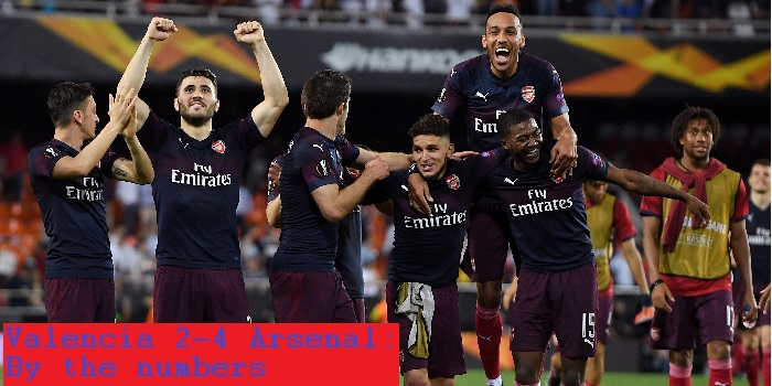 Valencia 2-4 Arsenal: By The Numbers