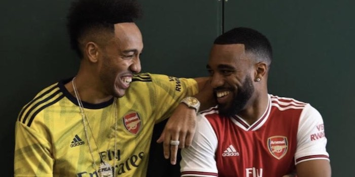 cheaper d8c85 5062f Picture! Aubameyang and Lacazette model next season's Adidas ...