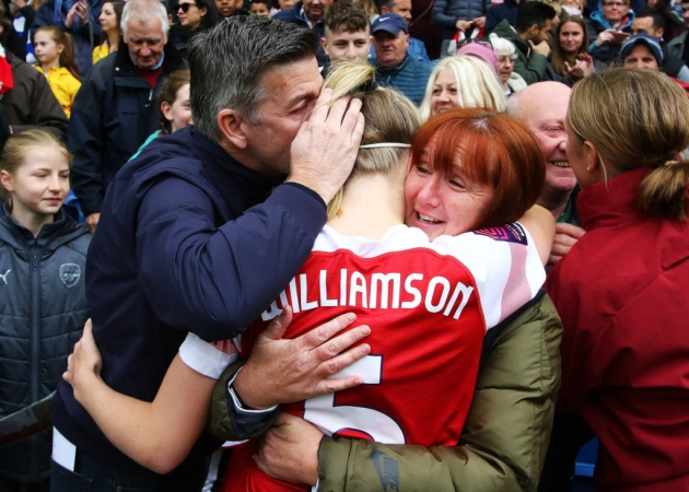 Leah Williamson Reacts to Victory Over Manchester United