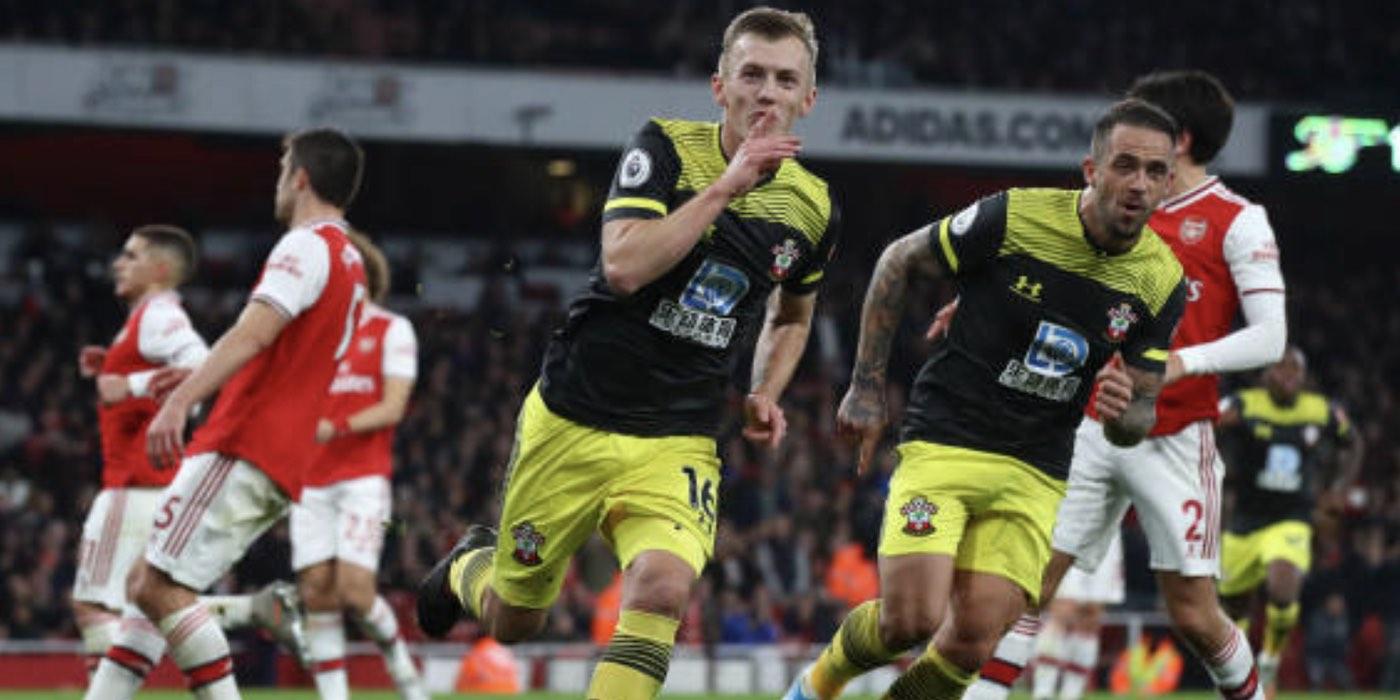 Report: Arsenal 2-2 Southampton (inc goals)