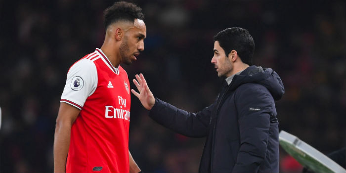 Arteta: Aubameyang has been phenomenal for a decade