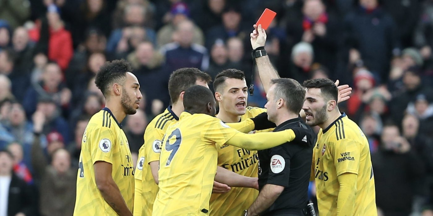 Image result for auba red card