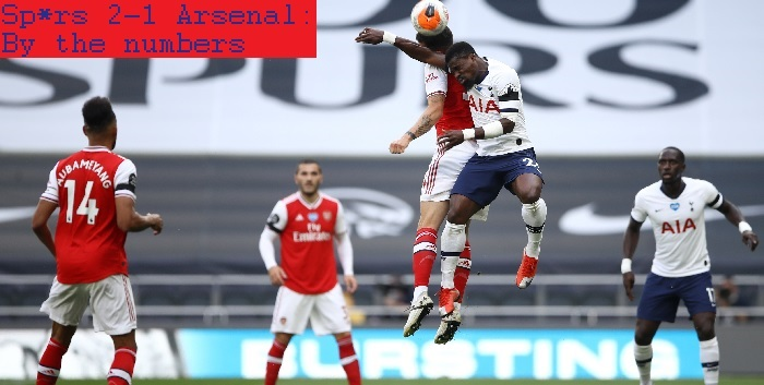 Sp*rs 2-1 Arsenal: By the numbers