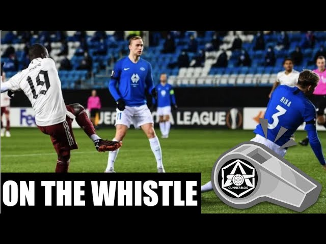 Video: Molde 0-3 Arsenal 'on the whistle'